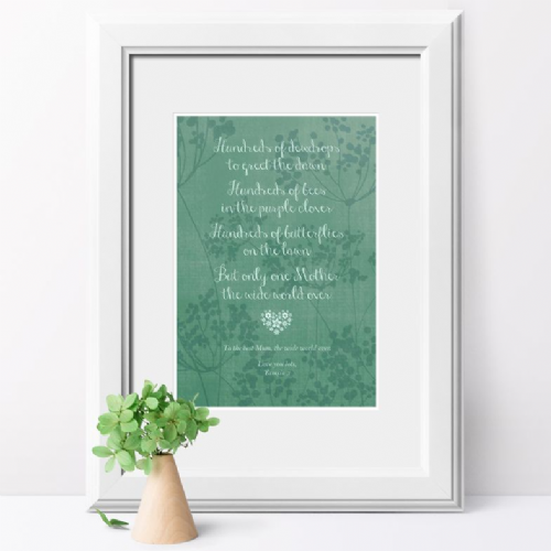 Personalised Nature Inspired Print For Mum